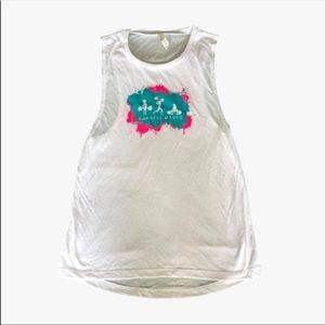 🆕 Barbell Babes Splatter Logo Muscle Tank 2XL